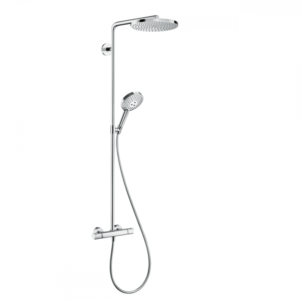 RAINDANCE SELECT S240 27633000 SHOWERPIPE 240 1JET P С ТЕРМОСТАТОМ ДЛЯ ДУША, ХРОМ