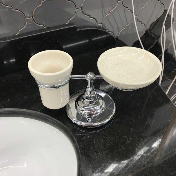 CLASSICI 1494CR настольный держатель двойной, хром (без стакана и мыльницы)