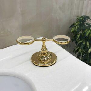 CLASSICI 1494GB настольный держатель двойной, золото (без стакана и мыльницы)