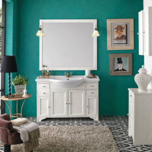 ТУМБА GEMMA 120 WHITE DECAPE' COLOUR (FBSGM120-B) С РАКОВИНОЙ (FPLEB120-B)