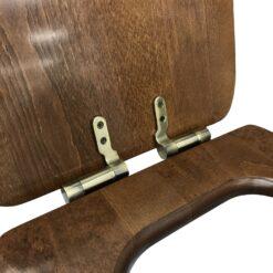 Retro 108640 Сиденье с крышкой для унитаза деревянное, крепления из нержавеющей стали, с функцией SoftClosing, петли бронза