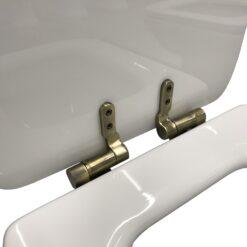 Waldorf 418601 Сиденье с крышкой для унитаза белое, крепления из нержавеющей стали, с функцией SoftClosing, петли бронза